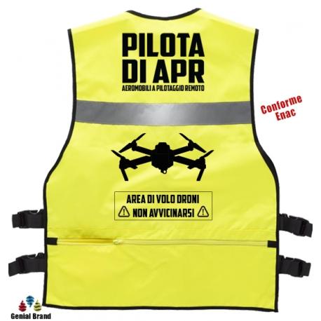 Gilet  PILOTA di APR giallo