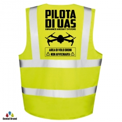 "Gilet ""PILOTA DI UAS"" tasche e taschino"
