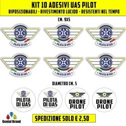 Adesivi pilota drone
